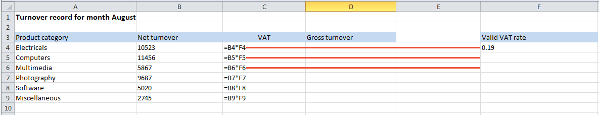 how to make an absolute reference in excel