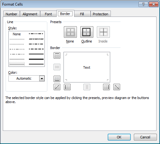 Excel borders: How to draw borders around cells and cell ranges