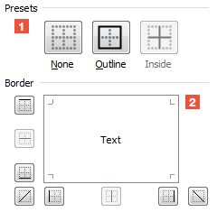 Excel borders how to draw borders around cells and cell for Html cell border
