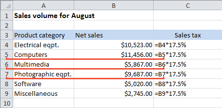 Transfer The Excel Formula From One Cell To The Other