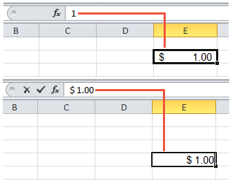 The excel number format