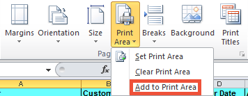 how to show only print area in excel