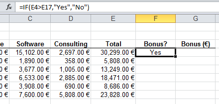 how to write a go to formula in excel