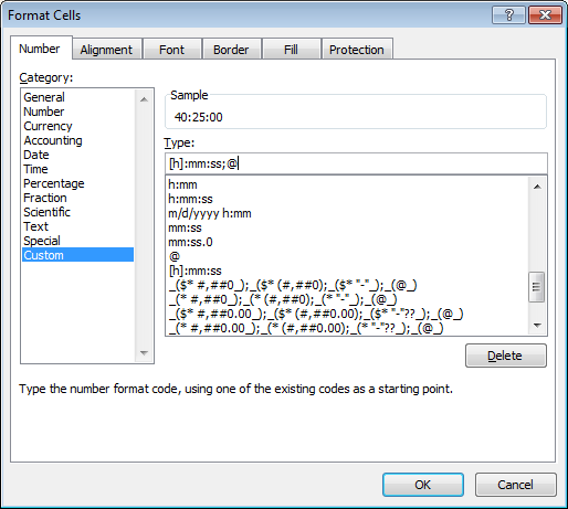 Excel calculation: How to calculate with time