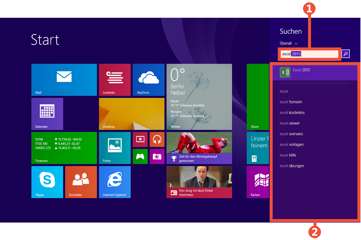 Way to find programs in windows 8 for Windows programs